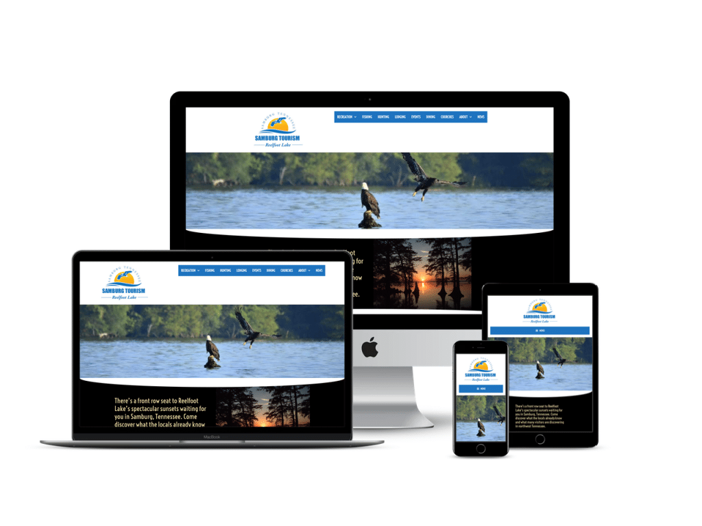 mobile responsive web site for tourism Samburg TN