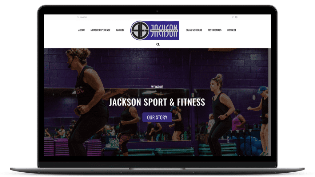 Roe Graphics website design for gym Jackson Sport & Fitness