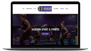 Roe Graphics website design for gym Jackson Sport & Fitness