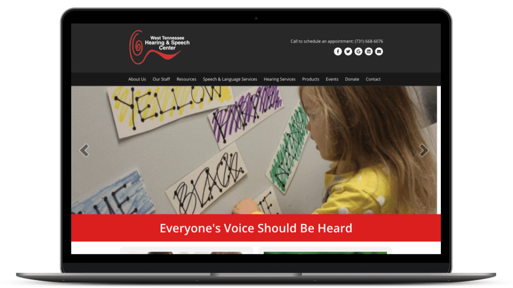 website design for nonprofit - West TN Hearing & Speech Center
