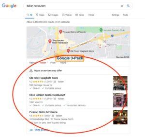 Top Ranked Jackson TN Restaurants in Google 3 Pack