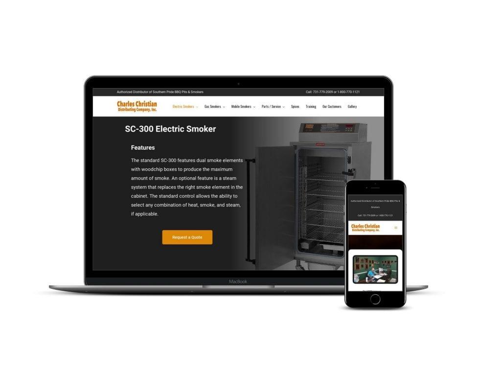 website design for distributing company