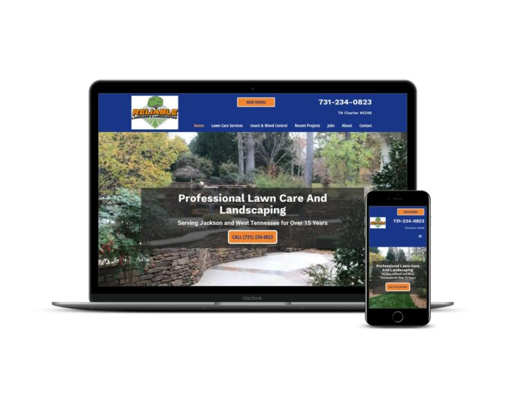 website for landscaping company in Jackson TN