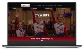 website developed for Arrow Athletics Gymnastics Martial Arts
